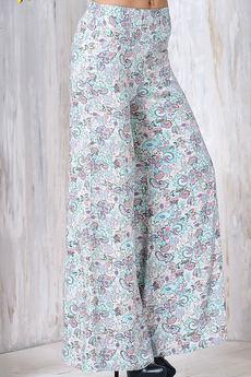 Широкие летние брюки на резинке Cariba