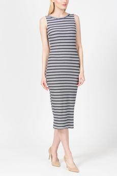 Повседневное платье в полоску из трикотажа TOM FARR со скидкой