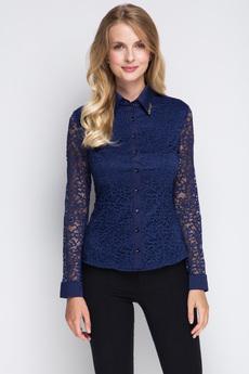Блузка с гипюровыми рукавами Marimay