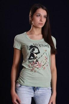 ХИТ продаж: футболка из хлопка в мелкую полосочку Mondigo