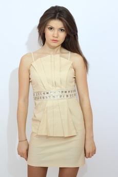 Бежевое котельное платье Kokette