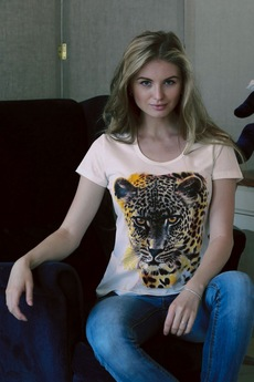 Футболка Леопард из 100% хлопка FIORITA