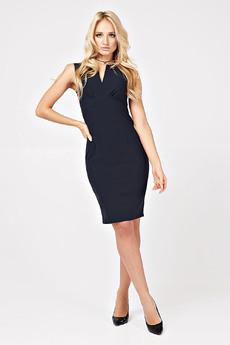 Платье-футляр темно-синего цвета Carlo Bottichelli